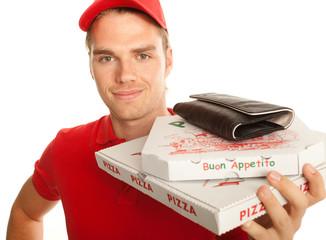 pizzadienst nahaufnahme