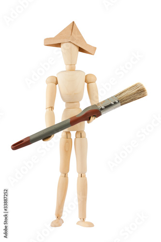 Painter manikin with brush