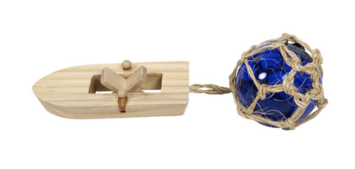 Rubberband Boat with Glass Float