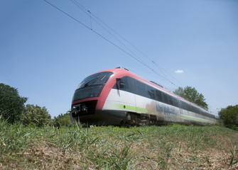 Electric train on the go