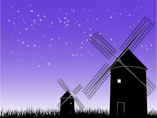 Windmill in the night