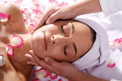 Massage for a young woman