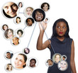 African American businesswoman social network