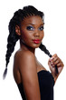 African beautiful woman with braids.