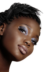 African woman beautiful face