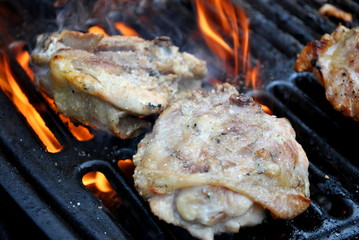 Grilling Fatty Chicken Thighs