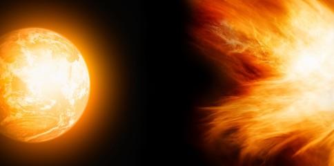 Earth in fire