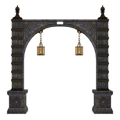 Arch with lamps