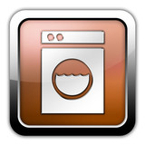 "Bronze Glossy Square Icon ""Laundromat"""