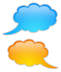 Glossy speech bubbles set