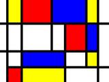 Bunte Rechtecke; den Kunstwerken von Mondrian nachempfunden poster