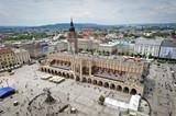 Stare miasto w panoramie Krakowa, Polska