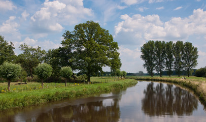 Dutch landscape: a view over the river Mark