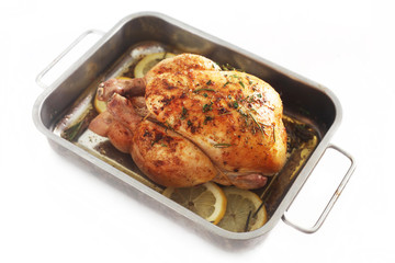 Roast Chicken on White