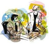 businesspeople vector illustration