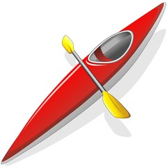 Canoa-Canoe-Kayak-Piroga-Pirogue-Vector