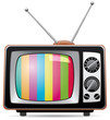 vector illustration of retro tv set