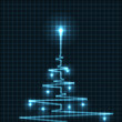 Abstract Christmas tree from heart beats cardiogram
