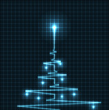 Abstract Christmas tree from heart beats cardiogram