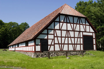 Half timbering barn