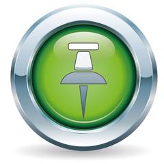 Pin - Button grün