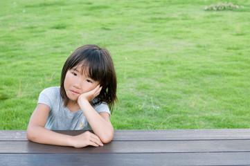 公園の女の子