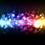 Fototapety music equalizer wave