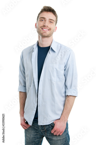 Smiling casual young man