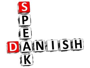 3D Speak Danish Crossword