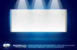 white panel with spotlight for product featuring