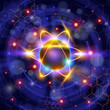 atom symbol, technology background & chemical formulas - 33904820