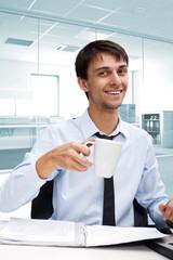 Successful businessman in a contemplative mood