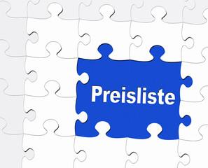 Preisliste - Marketing und Verkauf