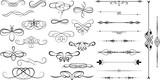 Spiral Swirl Decorative Flourish Divider Elements