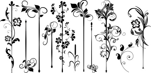 Straight Flourish Divider Set
