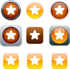 Star orange app icons.