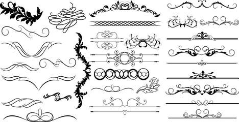 Funky Design Decor Flourish Element Set