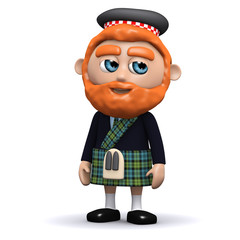3d Scotsman looks to the side
