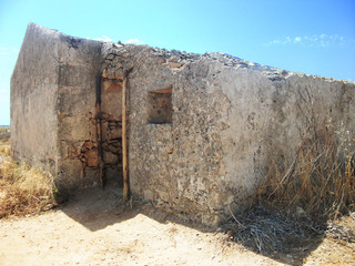 Abandoned farmhouse on the Mediterranean coast