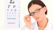 Female ophthalmologist posing