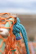 Knotted rope on a lobster pot