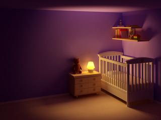 baby room at night