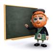 3d Scotsman at the blackboard