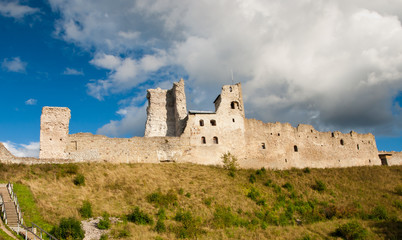 Panorama of medieval castle in Rakvere, Estonia