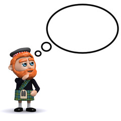 3d Scotsman thinks about something