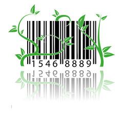 Codice a barre coperto dalle piante