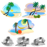 AWESOME BEACH LANDSCAPES poster
