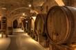 Leinwanddruck Bild - Wine cellar in Abbey of Monte Oliveto Maggiore