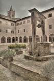Cloister in Abbazia di (Abbey of) Monte Oliveto Maggiore