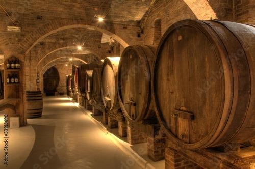 Leinwandbild Motiv Wine cellar in Abbey of Monte Oliveto Maggiore